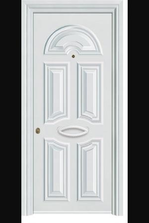 Θωρακισμένες Πόρτες Αλουμινίου    Οι θωρακισμένες πόρτες αλουμινίου προσφέρουν την απόλυτη ασφάλεια σε ένα συνδυασμό μοντέρνου και κλασσικού χαρακτήρα, με μια τεράστια ποικιλία σχεδίων και χρωματικών επιλογών να τις συνοδεύει.        Κατασκευασμένες από ατσάλινα ηλεκτρογαλβανισμένα φύλλα, προσφέρουν διπλή θωράκιση .         Επίσης διαθέτουν θερμοηχομονωτικό υλικό υψηλής πυκνότητας εσωτερικά και φύλλα αλουμινίου εξωτερικά.            Η αποτύπωση του σχεδίου στις επενδύσεις αλουμινίου που τοποθετούνται εξωτερικά γίνεται με μια πρωτοποριακή μέθοδο δημιουργώντας πρεσαριστή κορνίζα προς τα έξω για καλύτερο αισθητικό και ποιοτικό αποτέλεσμα προσφέροντας παράλληλα την μέγιστη αντοχή του αλουμινίου ενάντια στον χρόνο και τις καιρικές συνθήκες.             Επίσης διαθέτουν μεντεσέδες βαρέως τύπου και κλειδαριά χρηματοκιβωτίου   με δυνατότητα αλλαγής συνδυασμού.           Τα συνολικά  ατσάλινα έμβολα που αποτελούν τα κλειδώματα της θωρακισμένης πόρτας  και η ατσάλινες λάμες εσωτερικά του κασώματος την καθιστούν απαραβίαστη, προσφέροντας το αίσθημα της απόλυτης ασφάλειας .          Τα διπλά παρεμβύσματα σε κάσα και φύλλο Ε.P.D.M σε συνδυασμό με τον αυτόματο ανεμοφράκτη στο κατωκάσι προσφέρουν πέρα από την απόλυτη ασφάλεια των κλειδωμάτων και της θωράκισης ,την μέγιστη ηχομόνωση και ανεμοστεγάνωση.           ↑ Απόλυτη ασφάλεια και αντοχή.     ↑ 15 περιμετρικά ατσάλινα έμβολα.    ↑ Επενδύσεις και προφίλ από αλουμίνιο.     ↑ Πανοραμικό μάτι 180 °.     ↑ Ποικιλία χρωματικών επιλογών Ral και χρωμάτων απόχρωσης ξύλου.    ↑ Τεράστια γκάμα σχεδίων